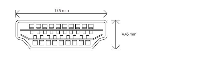 HDMI タイプA コネクター(プラグ)