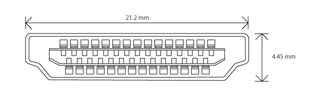 HDMI タイプB コネクター(プラグ)