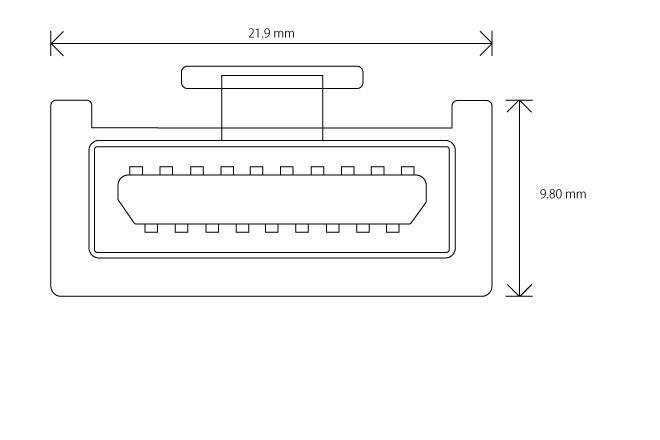 HDMI タイプE コネクター(プラグ)